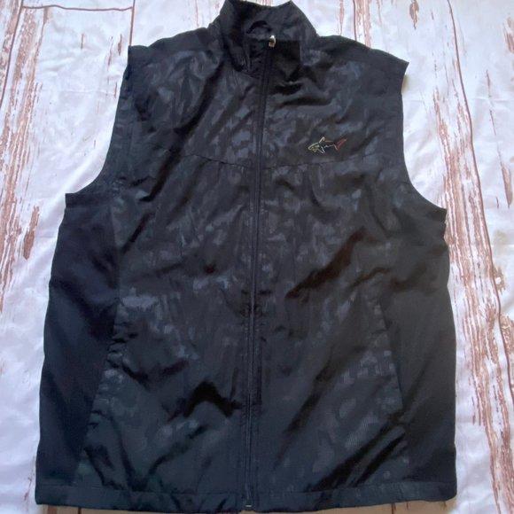 Greg Norman for Tasso Elba vest-black-size Medium